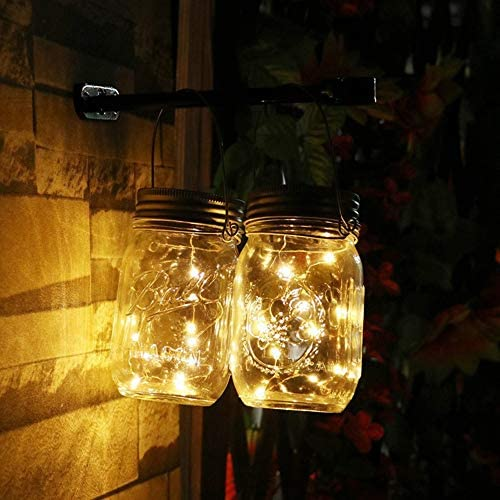 20led Fairy Light Solar, para Mason Jar Lid Insert Color Changing Garden Decor Luces de Navidad, decoración de bodas al aire libre, cadenas de luz solar