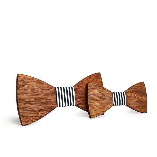 Necktie [Ze! Pajarita de madera de un solo color, juego para ...