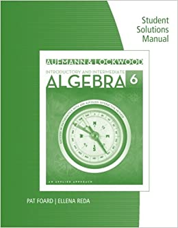 Book Student Solutions Manual for Aufmann/Lockwood's Introductory and Intermediate Algebra: An Applied Approach, 6th