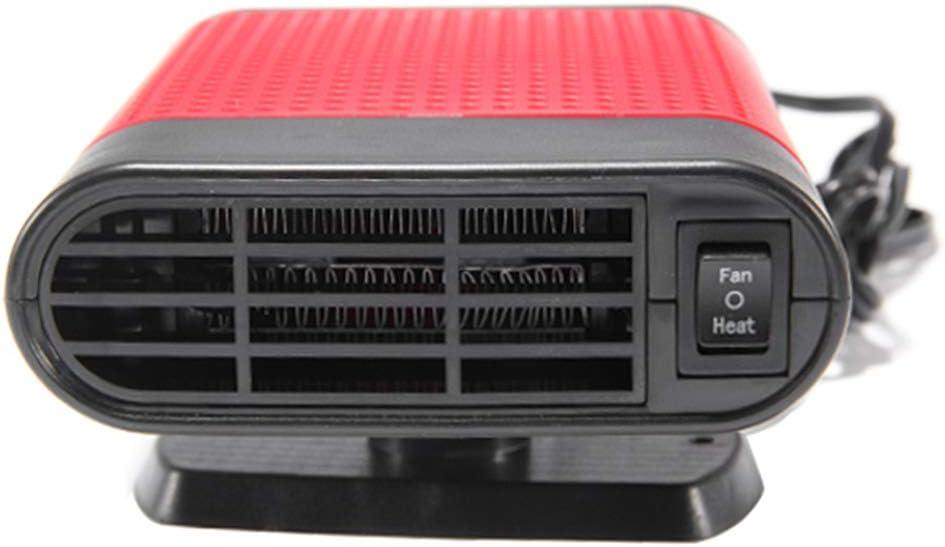 rouge Hothap Chauffage de voiture portable hiver 12 V 2 en 1 pour voiture Van chauffage Defroster Cool Fan 150 W Windter Pare-brise de fen/être