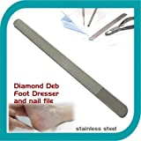 New Diamond Deb Nail File, Hand or Toenail File, Double Sided Podiatrist Quality 8""