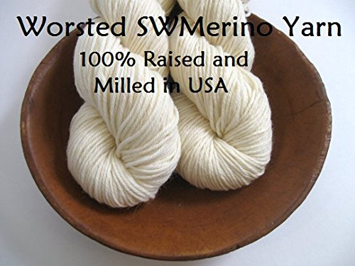 0% Superwash Merino Undyed Naked Ecru for Dyeing Knitting Crochet ()