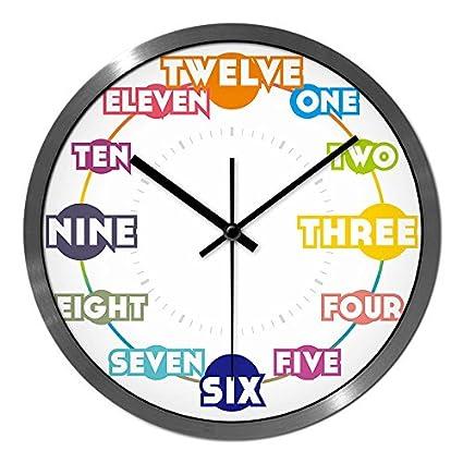 BYLE Creative Elegante Salón Inglés Ultra-Quiet Color Reloj Digital de Mesa Reloj de Cuarzo