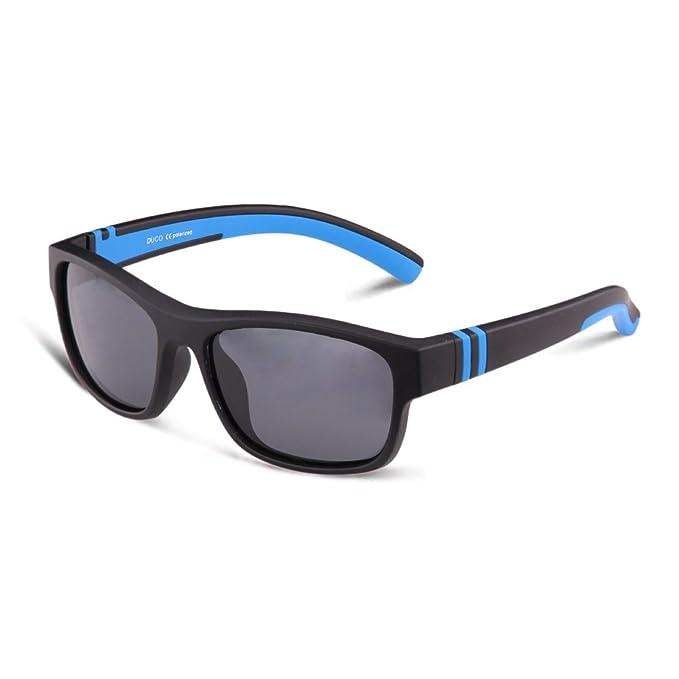 DUCO Gafas de Sol Polarizadas para Niños Marco de Goma de Flexible ...