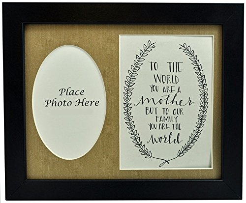 Cheap All Things For Mom To the World You are a Mother Picture Frame with Burlap Mat 8×10