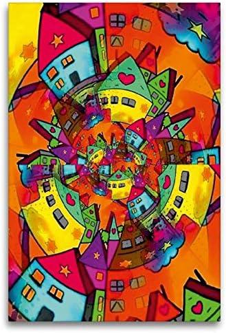 Calvendo Tela In Tessuto Di Alta Qualità, 80 Cm X 120 Cm (Una Volta Intorno Al Mondo), Immagine Su Telaio, Su Vera Tela, Stampa Su Tela Kunst, Arte