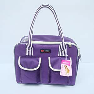 Sturdy PURPLE Colored Pet or Dog Carrier Bag Shoulderbag for Pet Lovers-Size Small