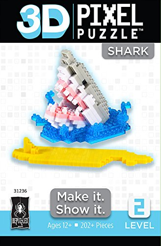 Price comparison product image BePuzzled 3D Pixel Puzzle - Shark
