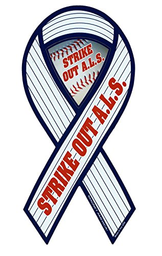 Magnetic Bumper Sticker - ALS Awareness (Lou Gehrig's Disease) - Ribbon Shaped Support Magnet - 4
