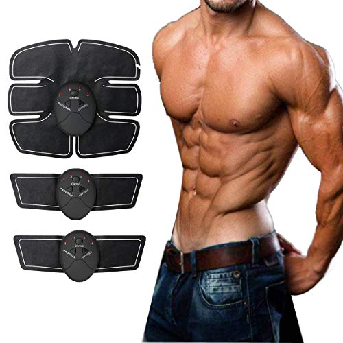 Abdominal Toning Belt Muscle Toner Portable Unisex Fitness Training Gear for Abdomen/Arm/Leg Training Home Office Exercise Equipment ...