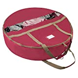 Elf Stor 1552 Ultimate 30-Inch Red Artificial Wreath Storage Bag, 30 Inch Diameter