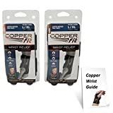 Copper Fit Compression Wrist Sleeve SET Left and Right Wrist Sleeve - Available in two sizes!