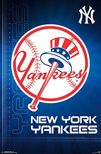 Trends International New York Yankees-Logo Mount Bundle Wall Poster 22.375
