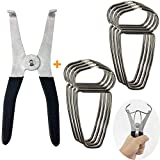 #6: Feiyang Miter Spring Clamps Kit For Woodworking & Picture Frames & Wood Trim & Moldings