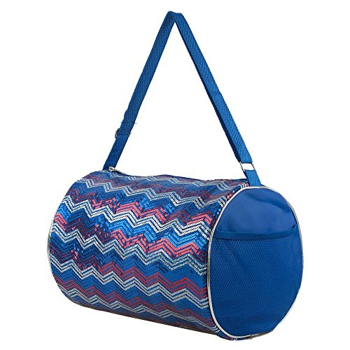 1 Perfect Choice Simple Relax Kid s Girls Dance Chevron Wave Sequin Duffle Bag Gymnastics Cheer USA