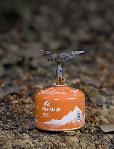 Fuego de Arce FMS-116T Estufa de Gas de Titanio para Camping al Aire Libre, una Pieza, Plegable, Ligera