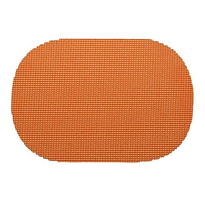 Kraftware 14836 Fishnet Placemat Dz, Oval, Spice Orange - Our placemats are die cut and make a beautiful and colorful statement on all casual table settings. Made with actual jute fish netting inside, there placemats will last a Lifetime Oval shape is ideal for all table shapes Kraftware fishnet is a jute based product that is extremely durable and color fast - placemats, kitchen-dining-room-table-linens, kitchen-dining-room - 51M5dYLhR8L. SS400  -