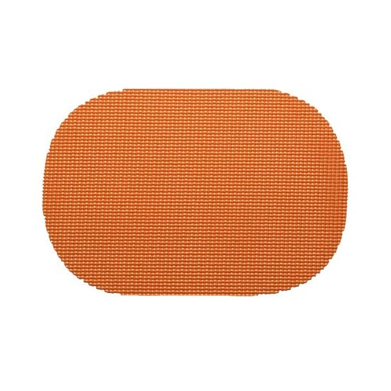 Kraftware 14836 Fishnet Placemat Dz, Oval, Spice Orange - Our placemats are die cut and make a beautiful and colorful statement on all casual table settings. Made with actual jute fish netting inside, there placemats will last a Lifetime Oval shape is ideal for all table shapes Kraftware fishnet is a jute based product that is extremely durable and color fast - placemats, kitchen-dining-room-table-linens, kitchen-dining-room - 51M5dYLhR8L. SS570  -