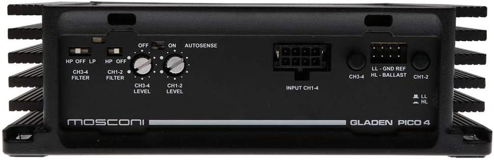 Mosconi Pico - Amplificador de 4 canales: Amazon.es: Electrónica