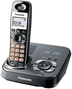 Panasonic DECT 6.0 Expandable Digital Cordless Phone - Teléfono (DECT, Negro, LCD, AAA, Nickel-Metal Hydride (NiMH), 63 x 140 x 120 mm)