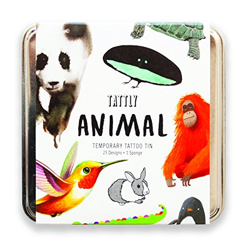 Tattly Temporary Tattoos, The Animal Tattly Pack, 0.26 Ounce -