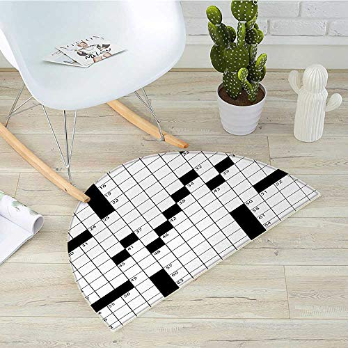 Word Search Puzzle Semicircle Doormat Blank Newspaper Style Crossword Puzzle with Numbers in Word Grid Halfmoon doormats H 47.2