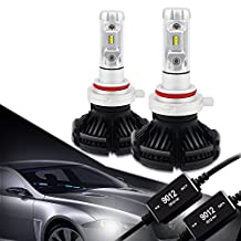 9012 LED Headlight Bulbs Conversion Kit CANBUS Error Free 3000K 6500K 8000K Free DIY PHI-ZES 12000LM/set Driving Fog Lights Replace Halogen Xenon HID Bulb +1Pair DECODER,1 Yr Warranty