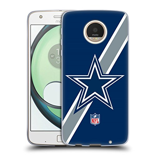 Price comparison product image Official NFL Stripes Dallas Cowboys Logo Soft Gel Case for Motorola Moto Z Play / Droid