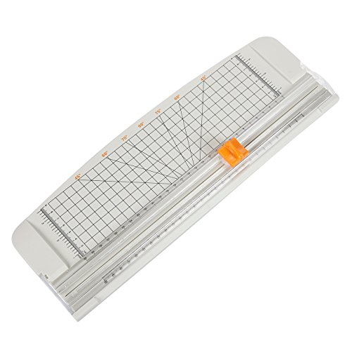 Paper Trimmer/Paper Cutter - Paper Cutting Board with Grid Guide - for Scrapbooking, Picture Cutting, Label Design, Coupon Cutting - Grey, 14.75 x 5.1 inches by Juvale