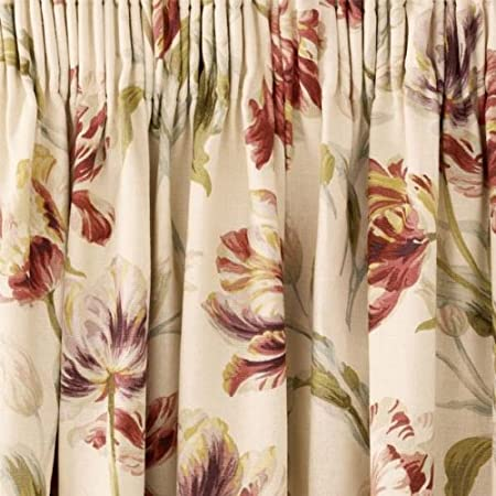 Laura Ashley Gosford Cranberry Pencil Pleat Curtains