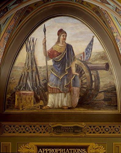 16 x 24 Art Canvas Wrapped Frame Giclee Print Roman Goddess War Art on The Walls The U.S. Capitol Washington DC [Bet Highsmith 96a