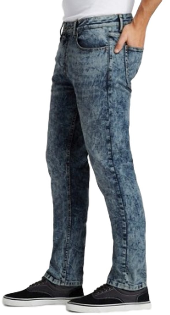 Modern Threads by Well Versed Men's Skinny Fit Jeans (28X30, Indigo Acid) by Modern Threads by Well Versed (Image #2)
