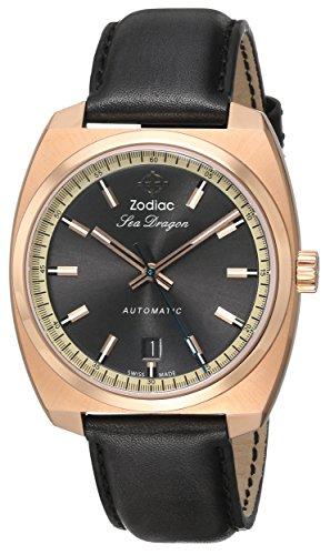 Zodiac-Heritage-Mens-ZO9902-Sea-Dragon-Analog-DisplaySwiss-Automatic-Grey-Watch