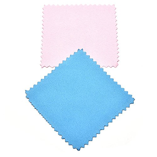 5PCS Jewelry Cleaning Cloths For Vision Care , Super-Soft Microfiber Suede Fabric Wipes ,3*3
