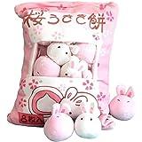 【cheng-store】かわいいぬいぐるみのぬいぐるみの動物のソファの枕 ウサギのケーキ/チキンプディングの人形の枕 シミュレーション創造的なスナックパック