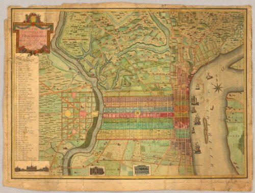 Old Detailed Colored Antique Map - 4