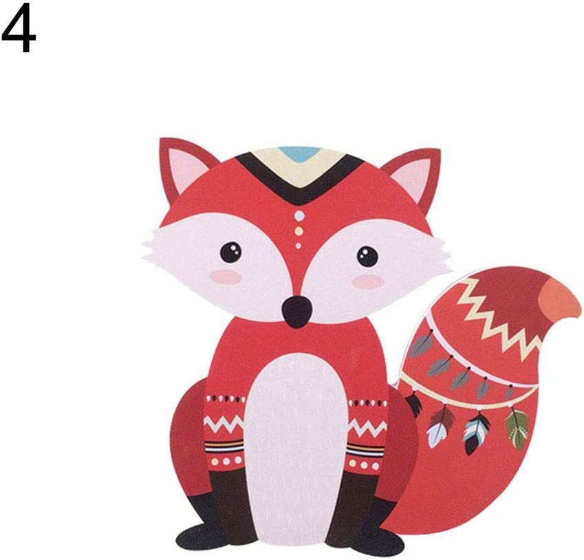 einheitsgr/ö/ße Cartoon Fuchs B/är Kinderzimmer Wand Ornament Kleiderschrank K/ühlschrank Aufkleber Home Decor 1#