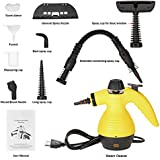 Multi-purpose Handheld Steam Cleaner, HIGH PRESSURE Chemical Free Steamer for Bathroom, Kitchen, Surfaces, Floor, Carpet, Grout and more with 9 FREE Accessories
