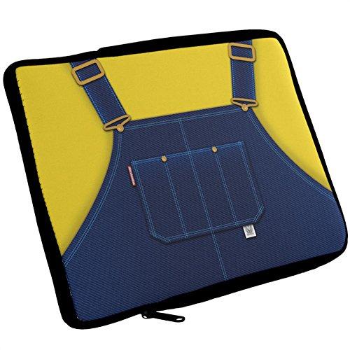 Halloween Overalls - Halloween Overalls Yellow iPad Tablet Sleeve