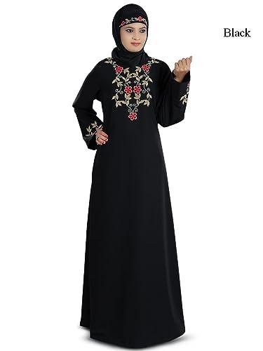MyBatua kashibo nero con ricami bellissima musulmano burqa abaya AY-209