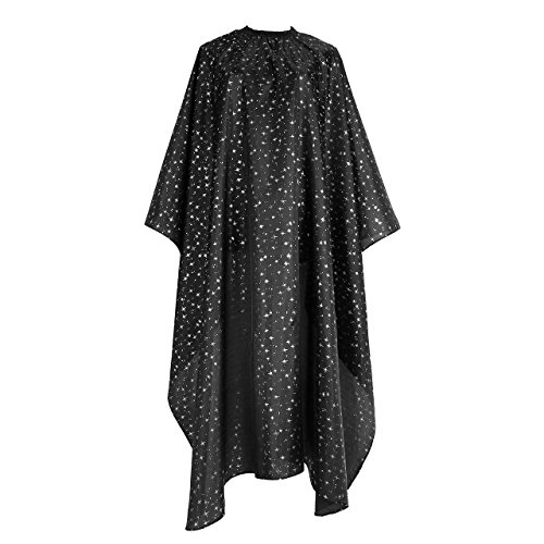 Hair Apron Cape Hairstylist Simple Design Pattern Waterproof Haircut Cloth Wrap Protect (Black Star) ()