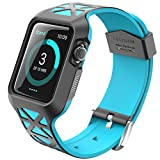Apple Watch Case, i-Blason Unity Series Premium Hybrid Protective Bumper Protective Case for Apple Watch 42 mm 2015 Release [Not Compatible with 38 mm] (Blue) Reviews