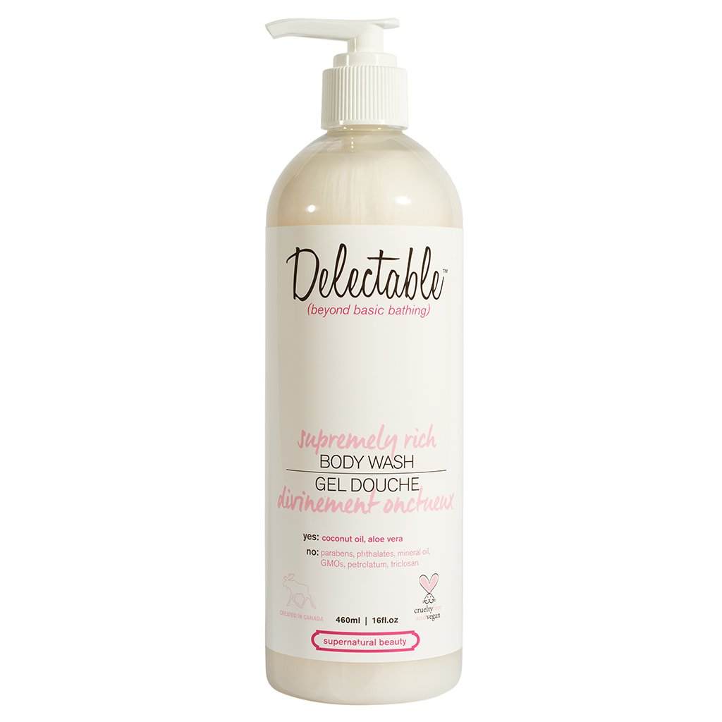 Delectable by Cake Beauty Supremely Rich Body Wash, Coconut and Cream, 16 fl. oz. Cake Beauty Inc.