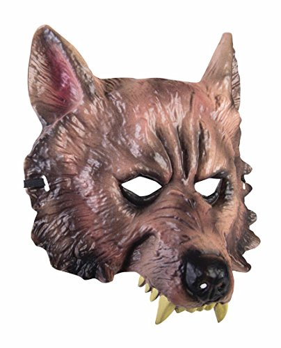 Adult Wolf Half Mask - Adult Std. (Wolf Masks For Adults)