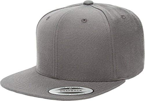Flexfit/Yupoong 6089M,6089MT,6089CAMO 6 Panel Premium Classic Snapback Hat Cap (Dark Grey)