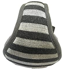 Earmuffs Warmers Men Women Soft Thick Comfortable Cold Protection With Scarf (Gray and White Stripes)