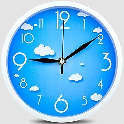 Living room wall clock watch simple cartoon clocks, quartz clock Bizhong wall clock,l26cm