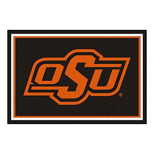 FANMATS NCAA Oklahoma State University Cowboys Nylon Face 5X8 Plush Rug