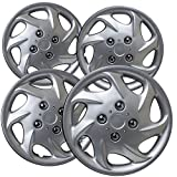 OxGord Hub-Caps for Select Nissan Altima (Pack of 4) 15 Inch Silver Wheel Covers