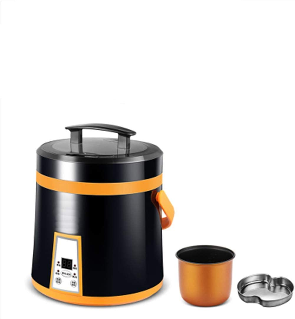 1.6L Mini Rice Cooker Portable Multifunction Cooking Pot 2 Layers Steamer Porridge Soup Electric Insulation Heating Cooker 110v US plug